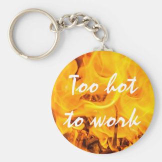 Fire and flames key ring