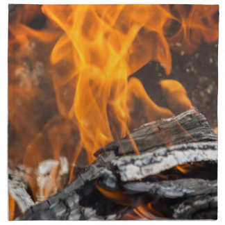 fire and flames napkin