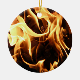 Fire and Flames Round Ceramic Decoration