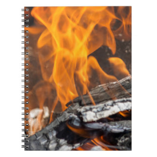 fire and flames spiral notebook
