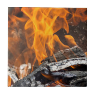 fire and flames tile