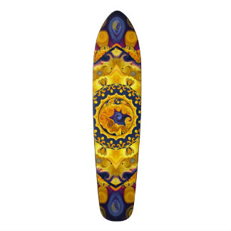 Fire and Ice Blue Mandala Skateboard Deck