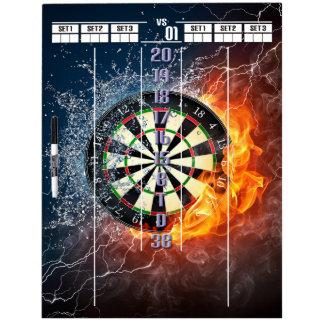 Fire and Ice Darts Scoreboard Dry-Erase Boards