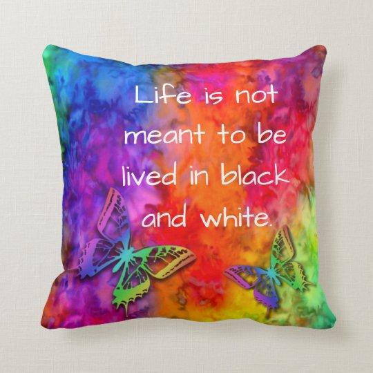 [Fire and Ice] Rainbow Boho Butterfly Tie-Dye Cushion