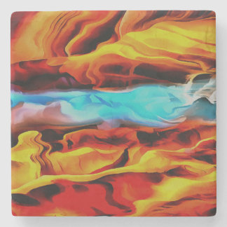 Fire and Ice Stone Coaster