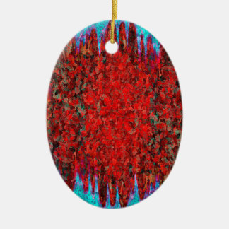 Fire and ice texture christmas ornament