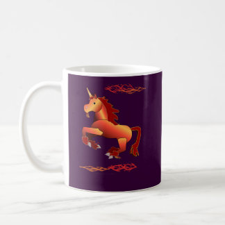 Fire and Lightning Unicorn Mug