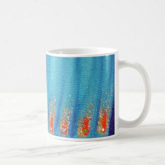fire and palms basic white mug
