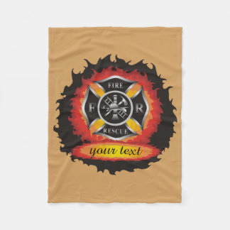 Fire and Rescue Personalized Fleece Blanket