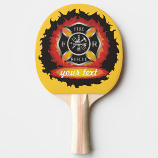 Fire and Rescue Ping Pong Paddle