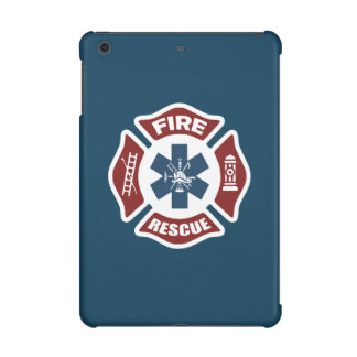 Fire and Rescue Red White and Blue