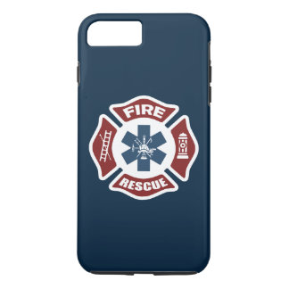 Fire and Rescue Red White and Blue iPhone 7 Plus Case