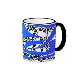 fire and skulls ringer mug