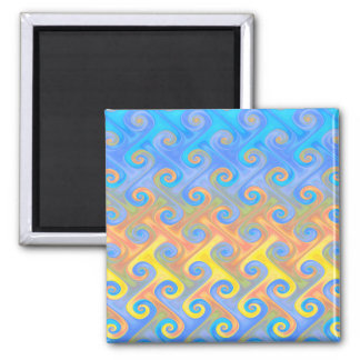 Fire and Sky Square Magnet