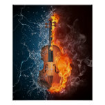 Fire and Water Violin Poster