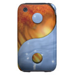 Fire and Water Yin and Yang Symbol Tough iPhone 3 Covers