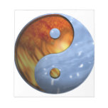 Fire and Water Yin and Yang Symbol Memo Pads