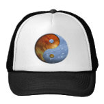Fire and Water Yin and Yang Symbol Trucker Hat
