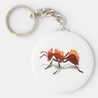 Fire Ant Basic Round Button Key Ring