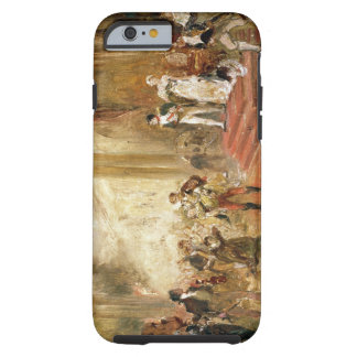 Fire at the Austrian Embassy (oil on canvas) Tough iPhone 6 Case