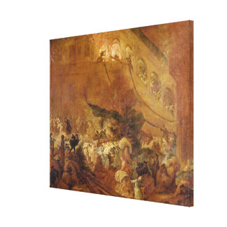 Fire at the Chambre des Comptes Canvas Print