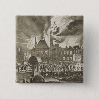 Fire at the old Amsterdam Town Hall, 17th July 165 15 Cm Square Badge