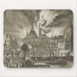 Fire at the old Amsterdam Town Hall, 17th July 165 Mouse Mat