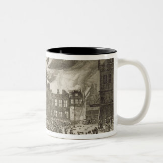 Fire at the old Amsterdam Town Hall, 17th July 165 Two-Tone Coffee Mug