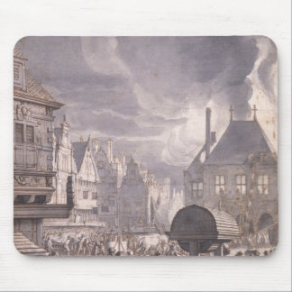 Fire at the Old Town Hall in Amsterdam Mouse Mat