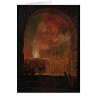 Fire at the Opera of the Palais-Royal Card