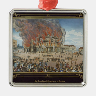 Fire at the Royal Theatre in Dresden Christmas Ornament
