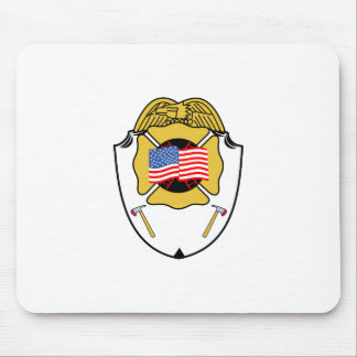 Fire Badge Mouse Pad