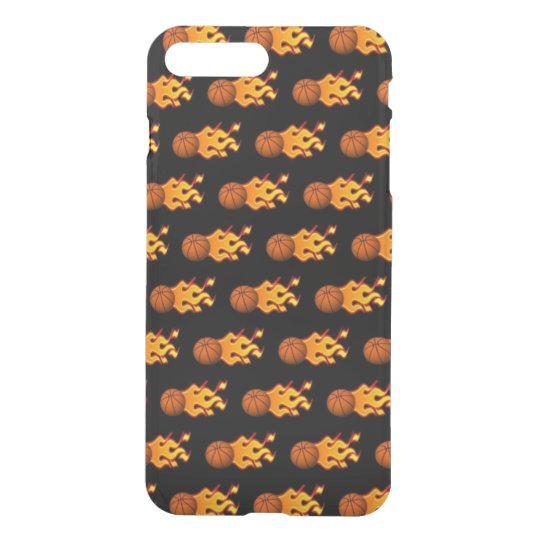 Fire Basketball iPhone 8/7 Plus Clearly™ Case