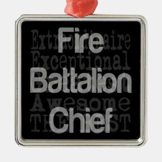 Fire Battalion Chief Extraordinaire Silver-Colored Square Decoration