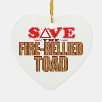 Fire-Bellied Toad Save Ceramic Heart Decoration