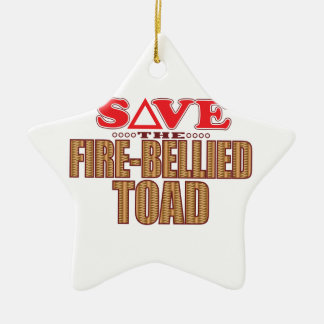 Fire-Bellied Toad Save Christmas Ornament