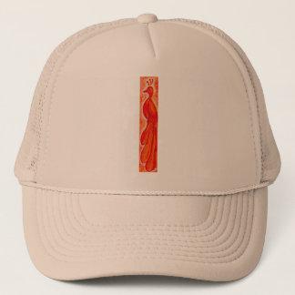 FIRE BIRD fun bright orange red drawing T-Shirt Trucker Hat