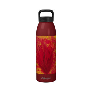 Fire Bloom abstract water bottle