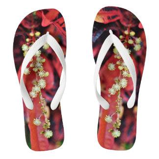 Fire Blossom Flip Flops