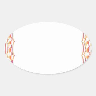 Fire Border - Modern Embroidery Oval Sticker