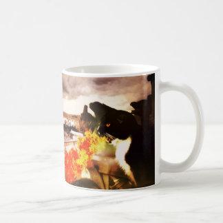 Fire Breathing Cat Dragon mug