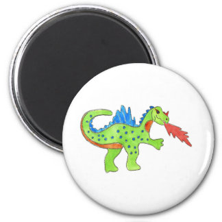 Fire Breathing Dragon 6 Cm Round Magnet