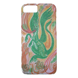 Fire breathing dragon, abstract. iPhone 7 case