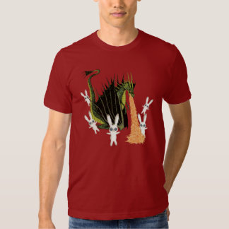 Fire Breathing Dragon and Plush Bunnies Shirts