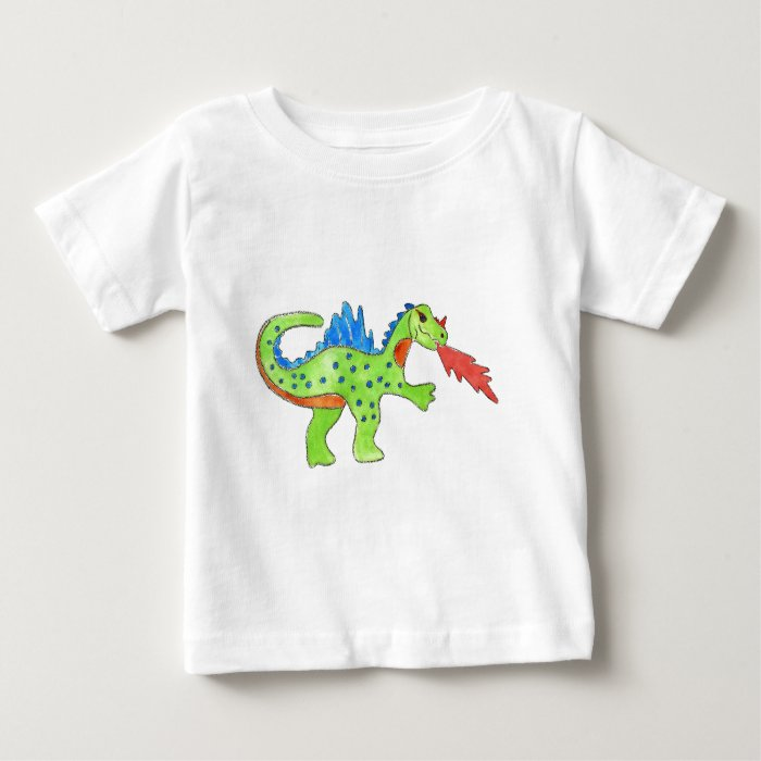 Fire Breathing Dragon Baby T-Shirt