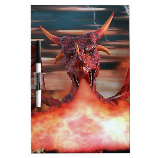 Fire breathing Dragon Dry Erase Board