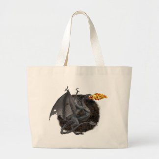 Fire-Breathing Dragon Large Tote Bag