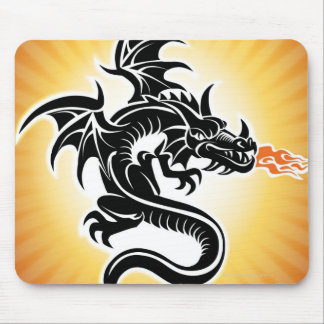 Fire breathing dragon mouse mat