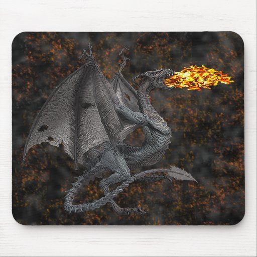 Fire-Breathing Dragon Mouse Pad