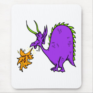 Fire Breathing Dragon Mouse Pads